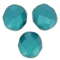 Fire Polished faceted round beads 8mm Pastel Emerald x20