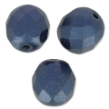 Fire Polished faceted round beads 8mm Pastel Montana Blue x20