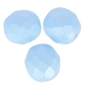 Fire Polished faceted round beads 8mm Pastel Blue Pearl x20