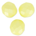 Fire Polished faceted round beads 8mm Pastel Yellow Pearl x20
