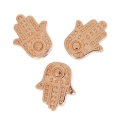 Beads hand of Fatima 12x10 mm rose gold tone x4