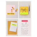 Assortment of  24 Office Stickers Paper Poetry stickers Fluo