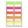 Assortment of  40 Office Stickers Paper Poetry tabs Fluo
