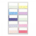 Assortment of  40 Office Stickers Paper Poetry tabs Pastel à motifs