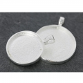 Medallion to decorate for round cabochon  20.5mm silver tone x1