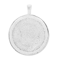 Medallion to decorate for round cabochon  25.5mm argenté x1