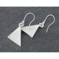 Earring to decorate triangle pattern 23 mm Silver tone x2