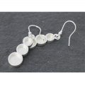 Earring to decorate round pattern 31 mm silver tone x2