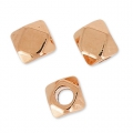 Cubes faceted 3 mm rose gold tone x10