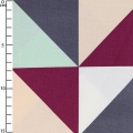 Cotton braided fabric Triann Glacier Grey/Aubergine/Powder x10cm