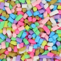 Assortment of colored sprinkles 1x2 mm to stick in polymer clay x5g