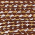 Braided cotton cord 2mm Light brown/Brown/white x 10 m