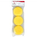 Set of 3 round sponges for paint 70 mm