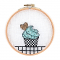 Embroidery Kit cross Stitch 11.5 cm Cupcake