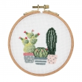 Embroidery Kit cross Stitch 11.5 cm Cactus