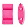 Synthetic 2 holes beads 18x9mm Hot Pink x10