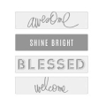 Lightbox Heidi Swapp - Slides Awesome/Shine Bright/Blessed/ Welcome
