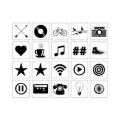 Lightbox Heidi Swapp - Slides 20 icons objects Black