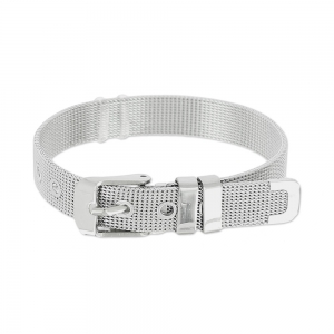 Belt dracelet adjustable soft mesh 10mm in stainless steelx1