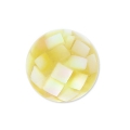 Bead pearl mosaic effect 10 mm yellow x1