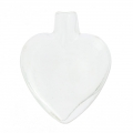 Glass Phial heart to fill 36x28x10mm x1