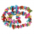 Mother-of-Pearl shell Chip beads 16-7mm multicolor x 35 cm