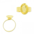 Ring base for Swarovski 4120 14x10 mm Gold tone x1