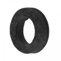 Waxed linen cord 1 mm Noir x 22 m