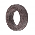 Waxed linen cord 1 mm Brown x 22 m