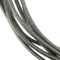 Leather cord 2mm Metallic grey x 2m