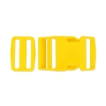 Quick release buckles with buckle 40 mm Yellow x1