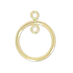 Round spacer 2 jumprings 14.5 mm - 14Kt Gold-filled  x1