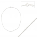 Sparkle choker chain ball 1,5mm 925 Sterling Silver x 45cm