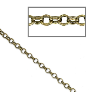 Chain double round links 1.7mm bronze tone x 1m