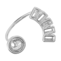 Ring with settings for Swarovski 1088/5817 6mm and 4501 4x2 mm rhodium