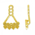 Ear jewel Ear Jacket for Swarovski cab 1028 and 4428 gold tone x1