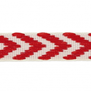 Fancy chevrons lace galon 10mm Red  x1m