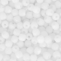 True 2mm Fire Polished faceted round beads Opaque White x50