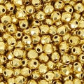 True 2mm Fire Polished faceted round beads 24 K Gold Plated x50