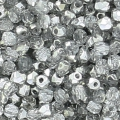 True 2mm Fire Polished faceted round beads Crystal Argent x50