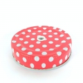 Metal lid for glass Jar with hole red dotted x1