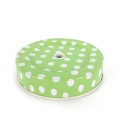 Metal lid for glass Jar with hole green dotted x1