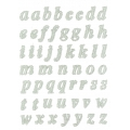 Sheet of repositionable stickers 3D lace Alphabet small letters