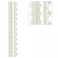 Repositionable stickers Lace hearts and arabesque 3D Strips
