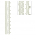 Repositionable stickers Lace hearts 3D Strips