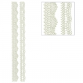 Repositionable stickers Lace waves 3D Strips