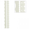 Repositionable stickers Lace Flower 3D Strips