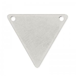 Spacer Triangle 2 holes 17x15 mm in Silver sterling 925 x1