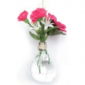 Support decorative glass - Open bulb 14 cm with rope