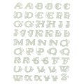 Sheet of repositionable stickers 3D lace Alphabet bold letters